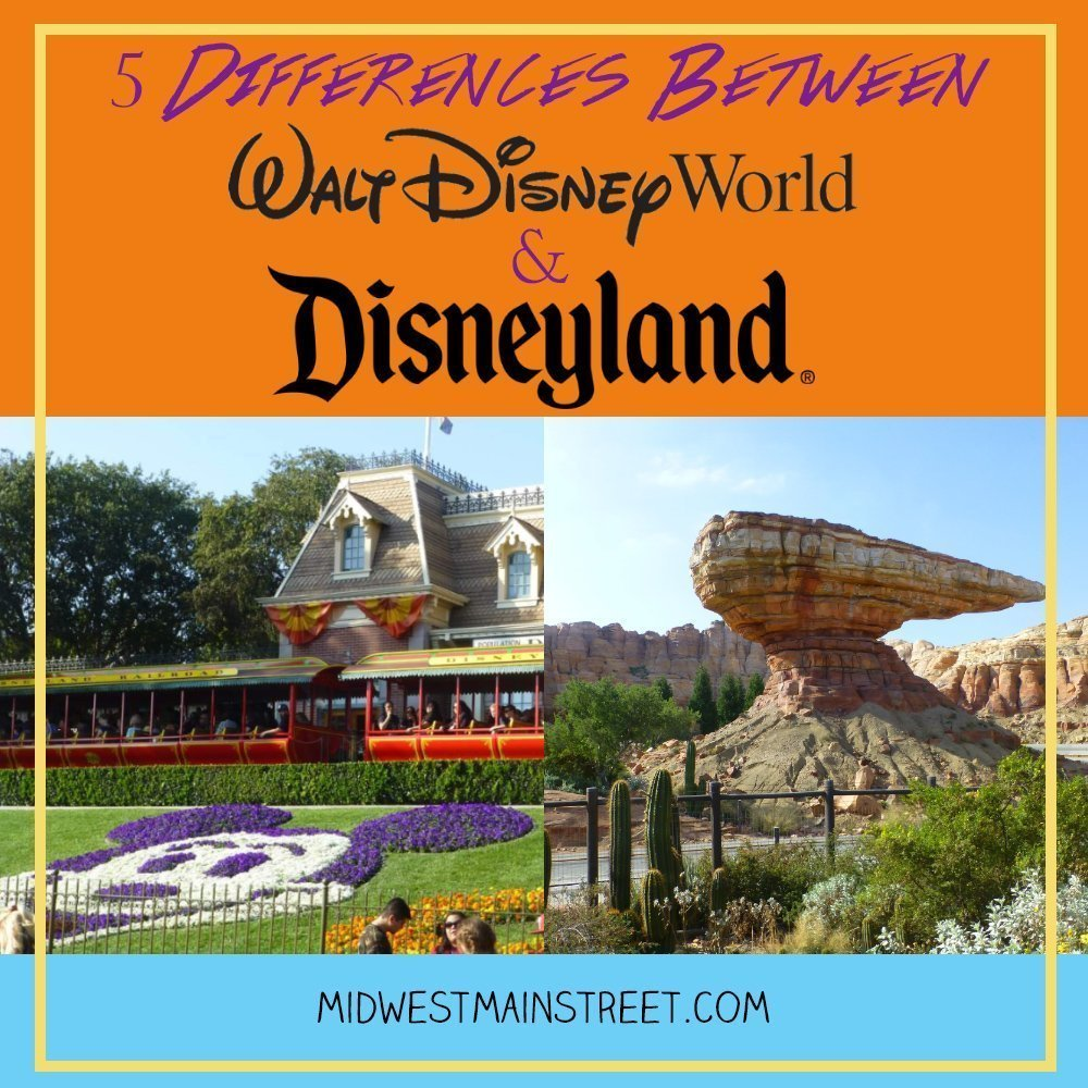 5 Differences Between Walt Disney World and Disneyland
